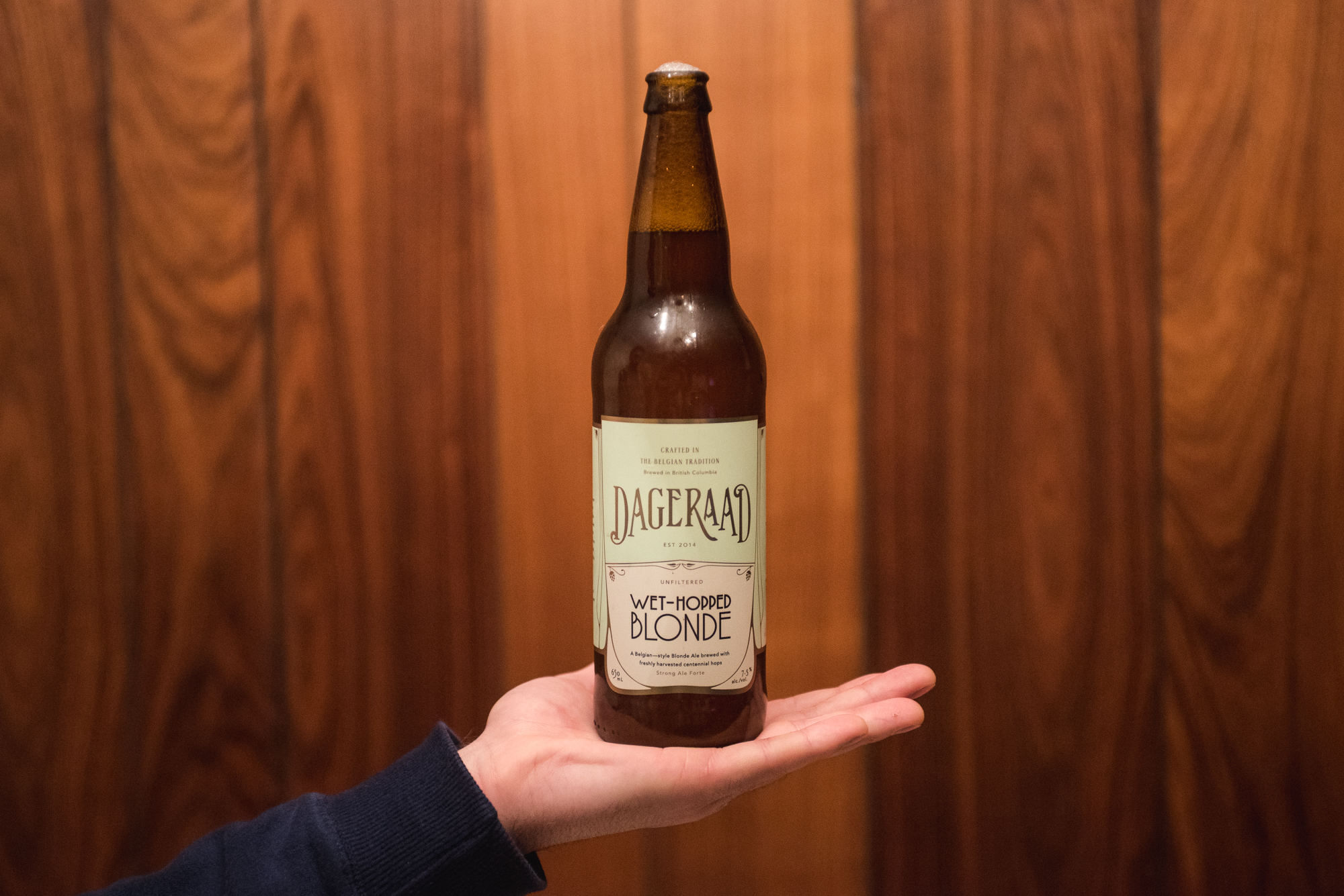 Dageraad Brewing Wet-hopped Blonde Burnaby VanPours
