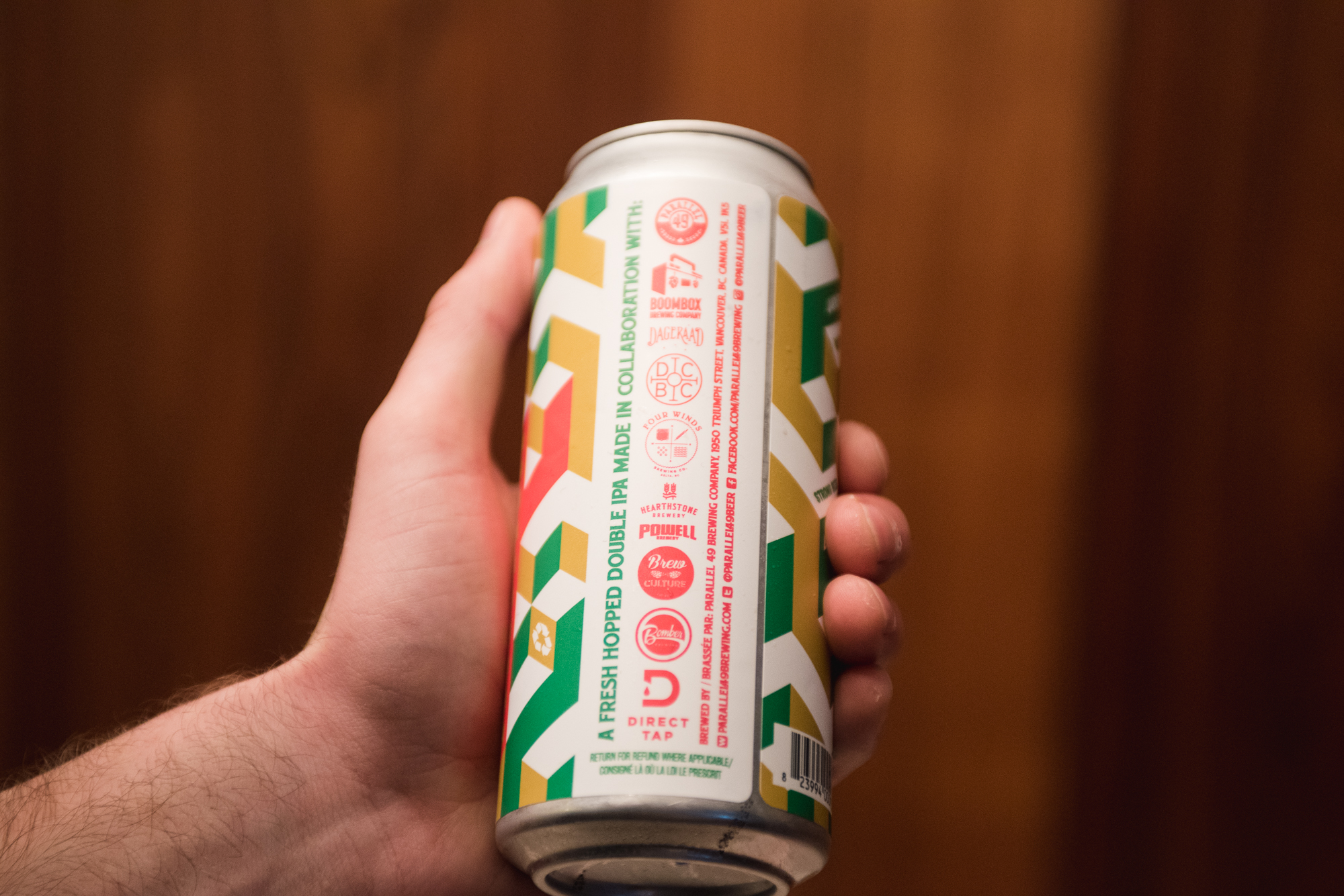 brew culture direct tap parallel 49 brewing fresh hopped double IPA vanpours