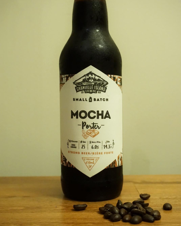 Granville Island Brewing Mocha Porter JJ Bean craft beer vanpours
