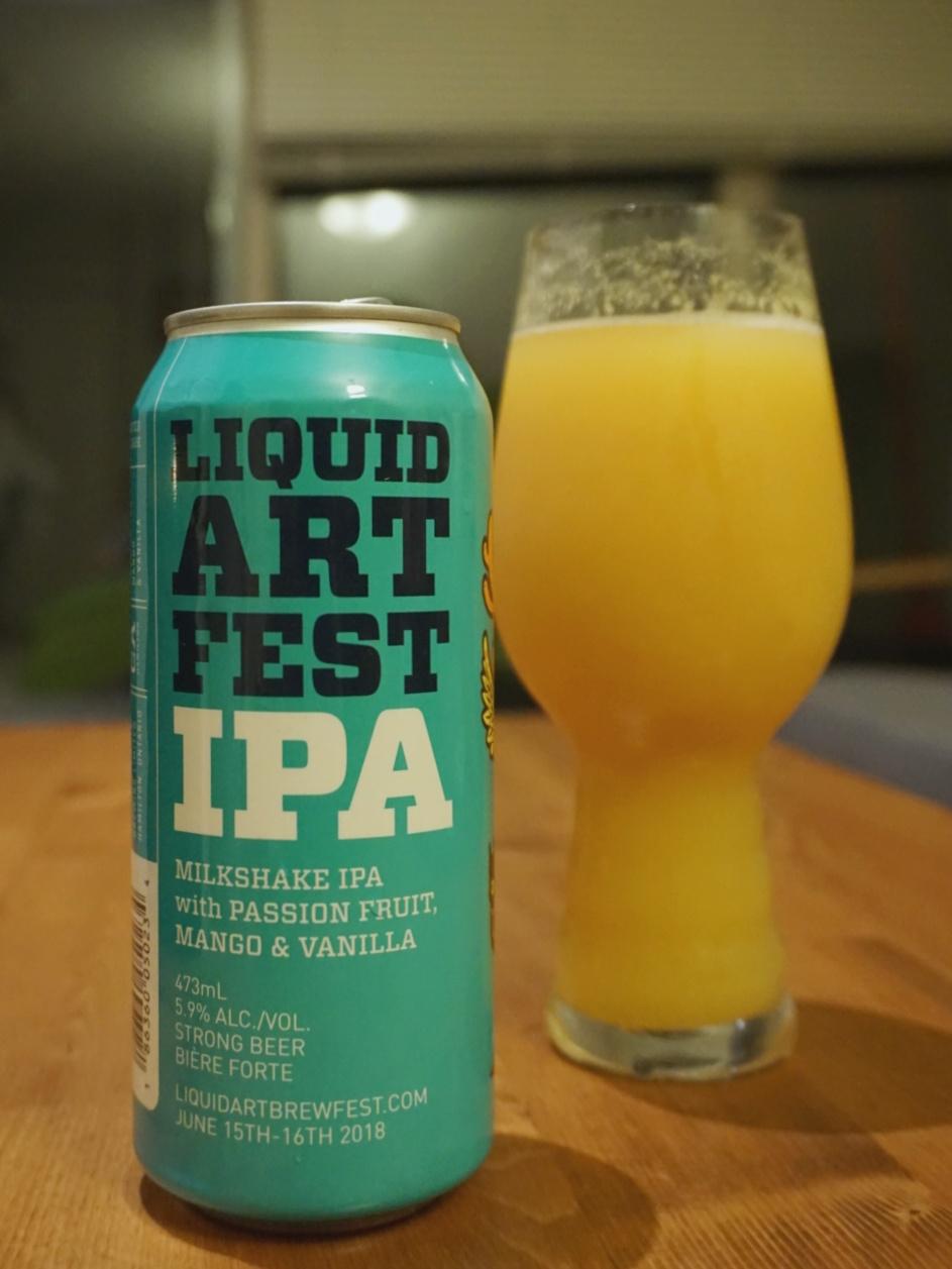 Collective Arts Brewing Liquid Art Fest IPA craft beer vanpours