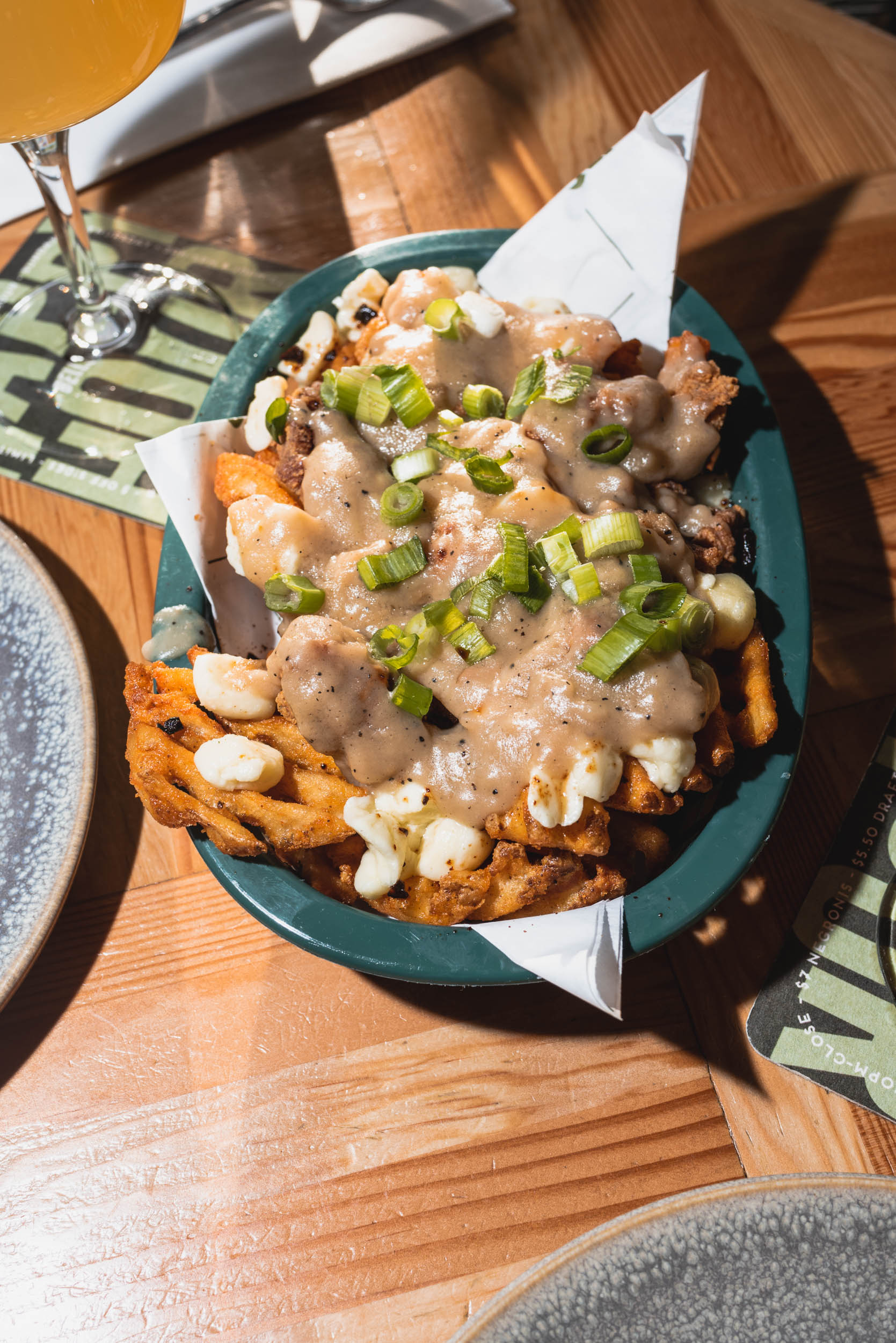 The chicken waffle poutine from Bells and Whistles.