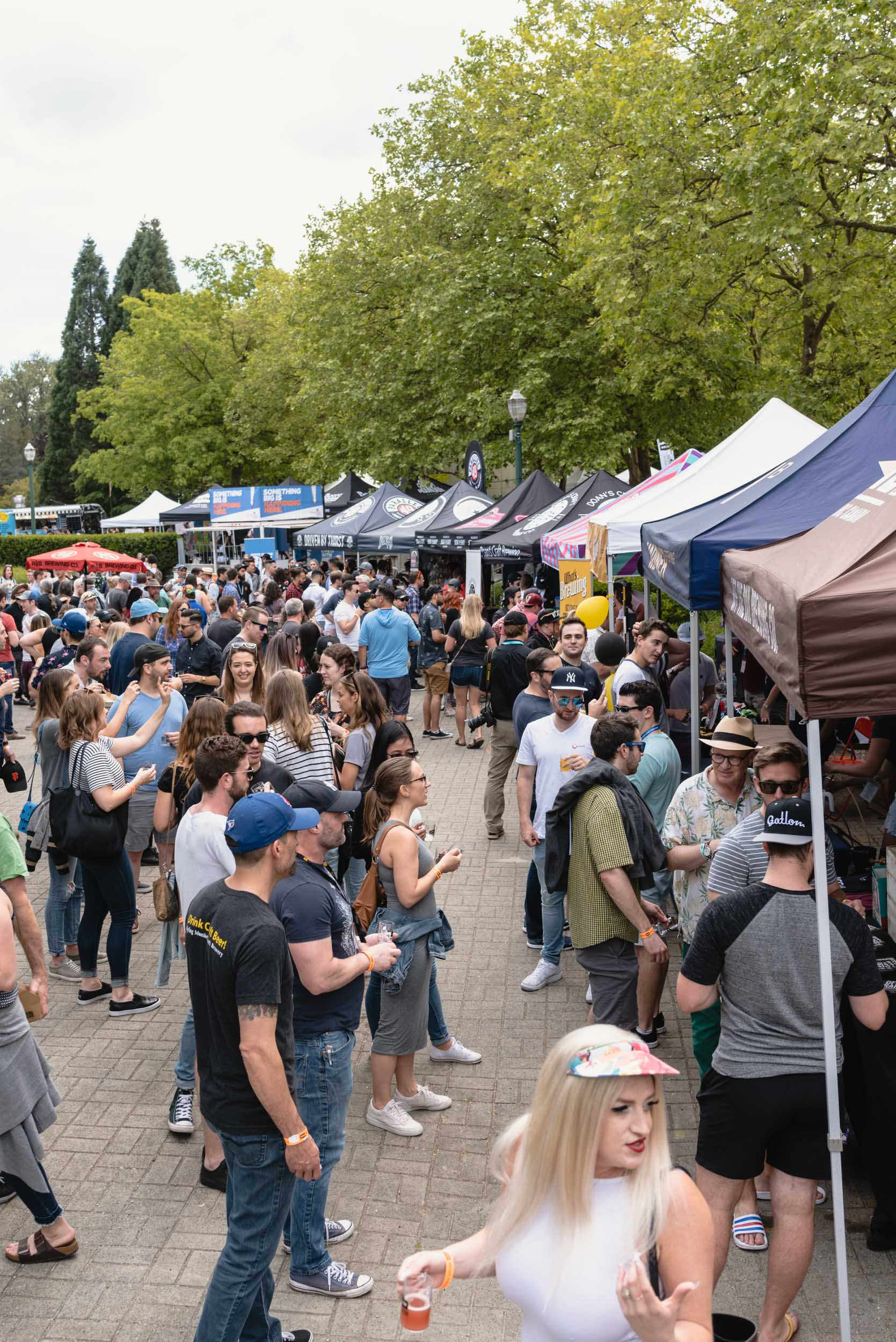 Breweries set up at Vancouver Craft Beer Week Festival