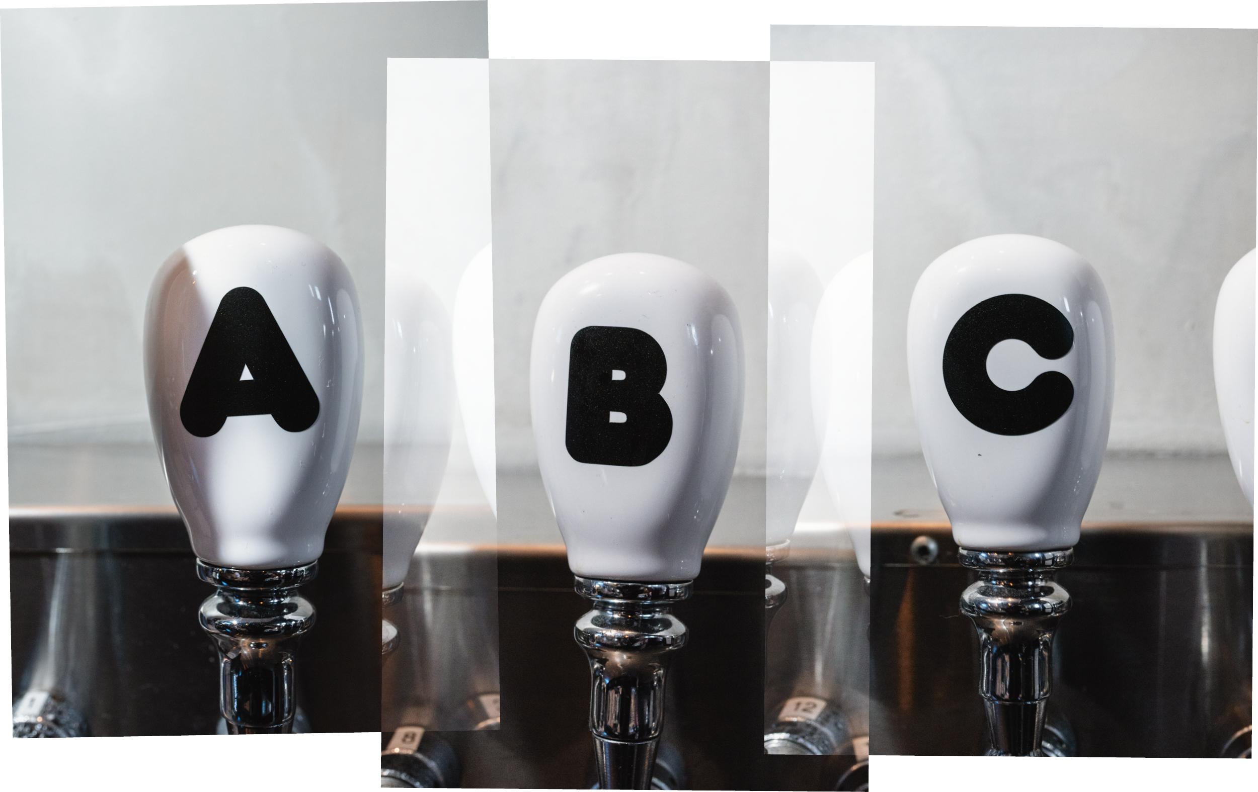 Another Beer Company beer tap handles