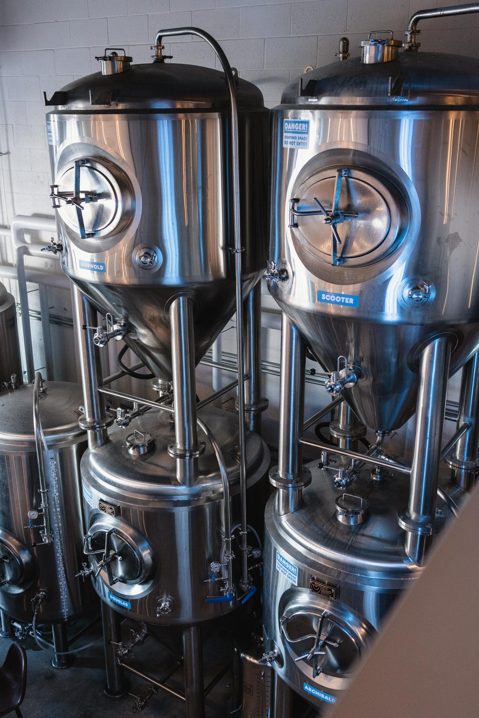 Brewery equipment at Another Beer Company
