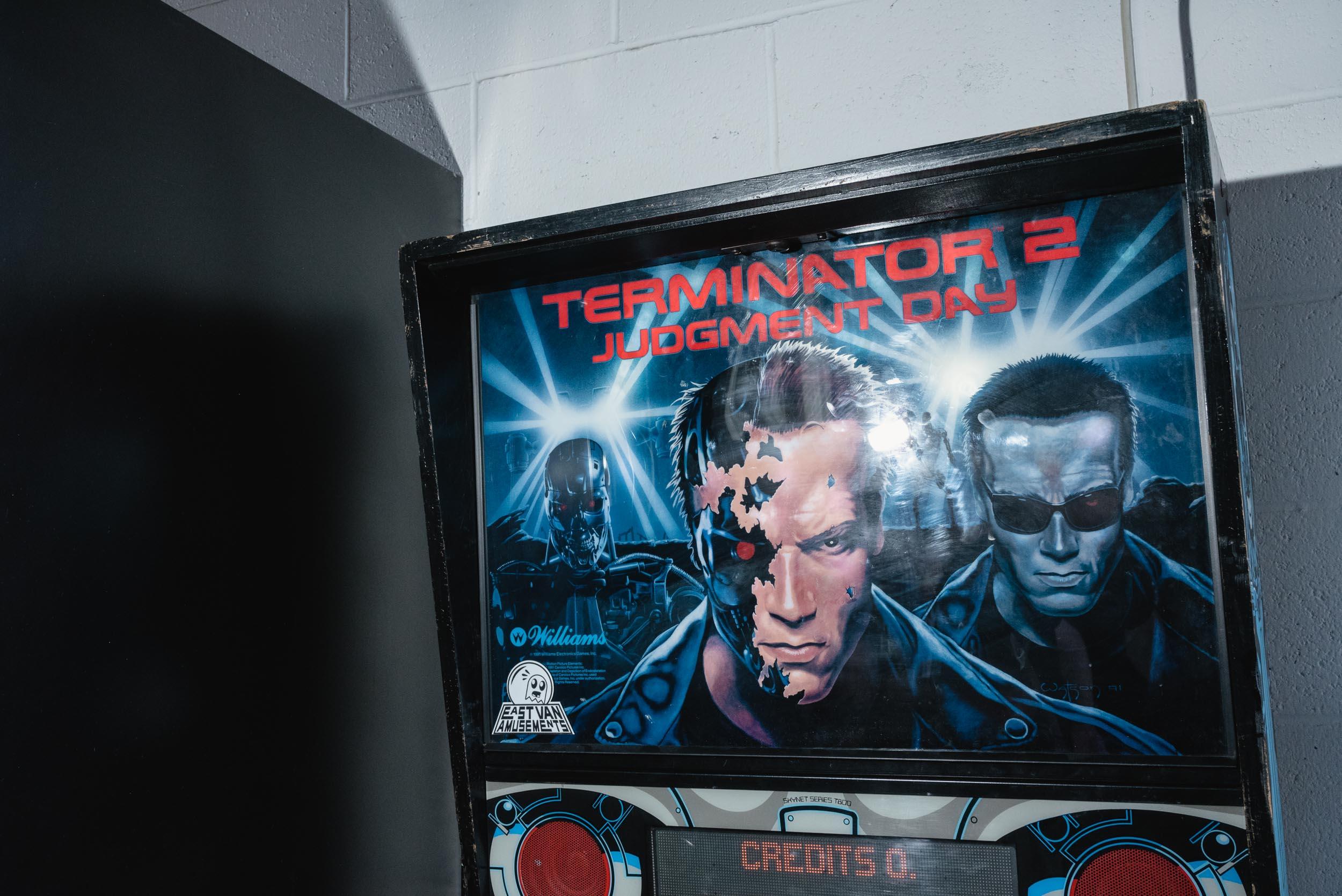 Terminator pinball arcade game