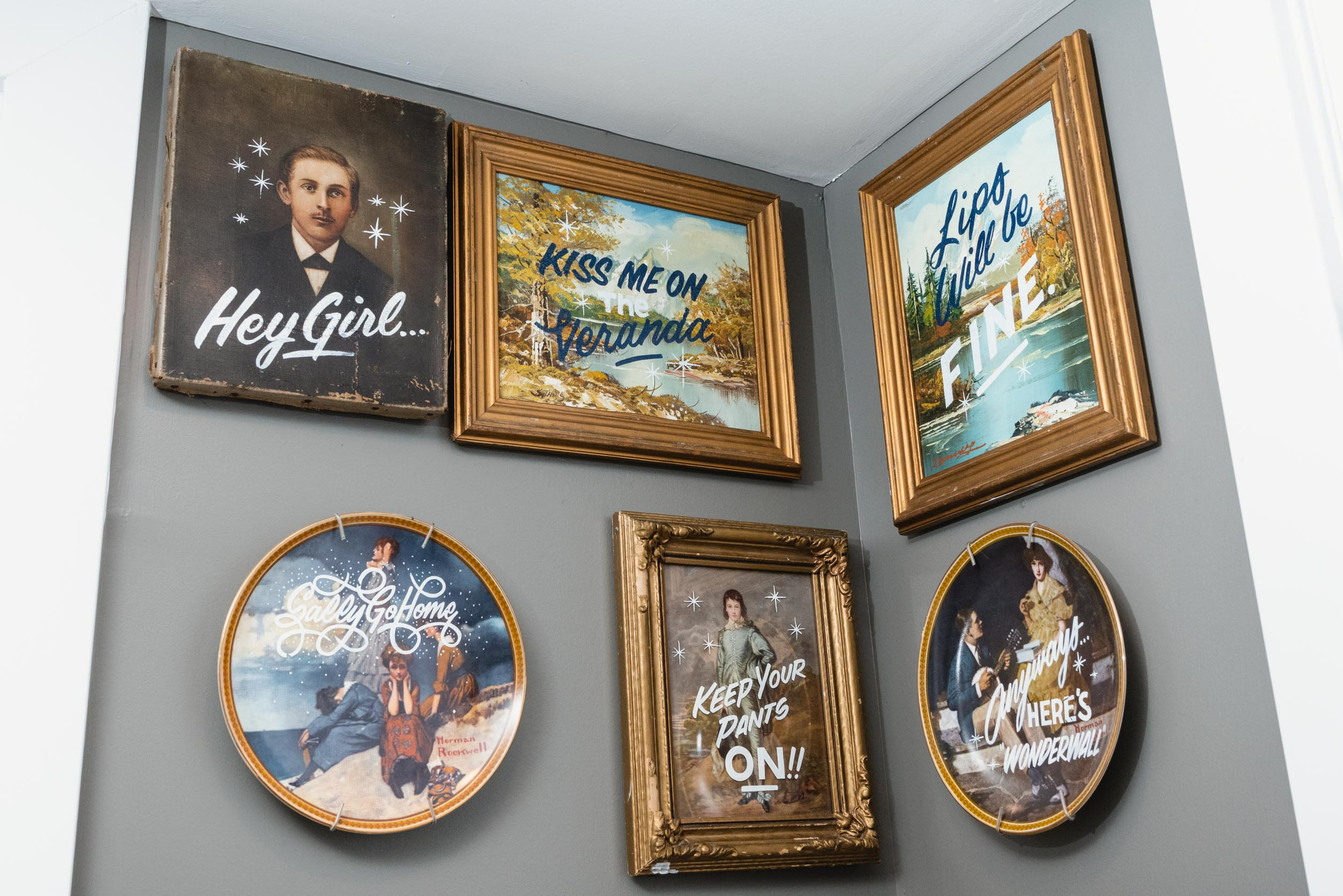 Bathroom paintings