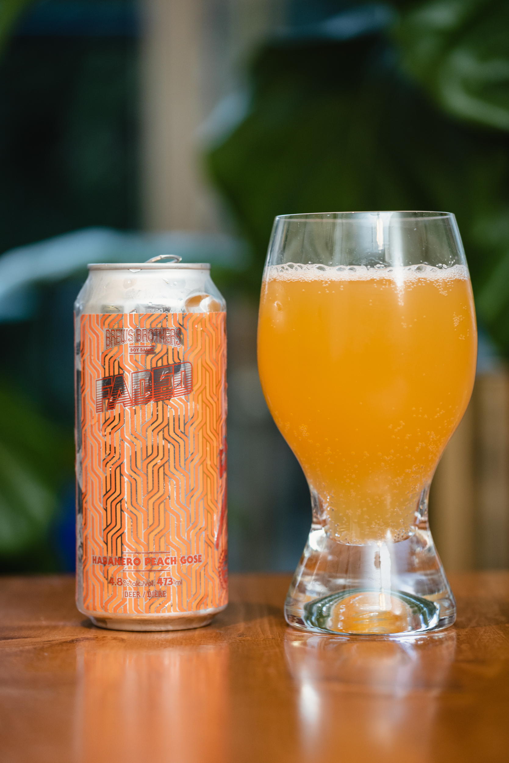 Parallel 49 Brewing Faded habanero peach gose in glass