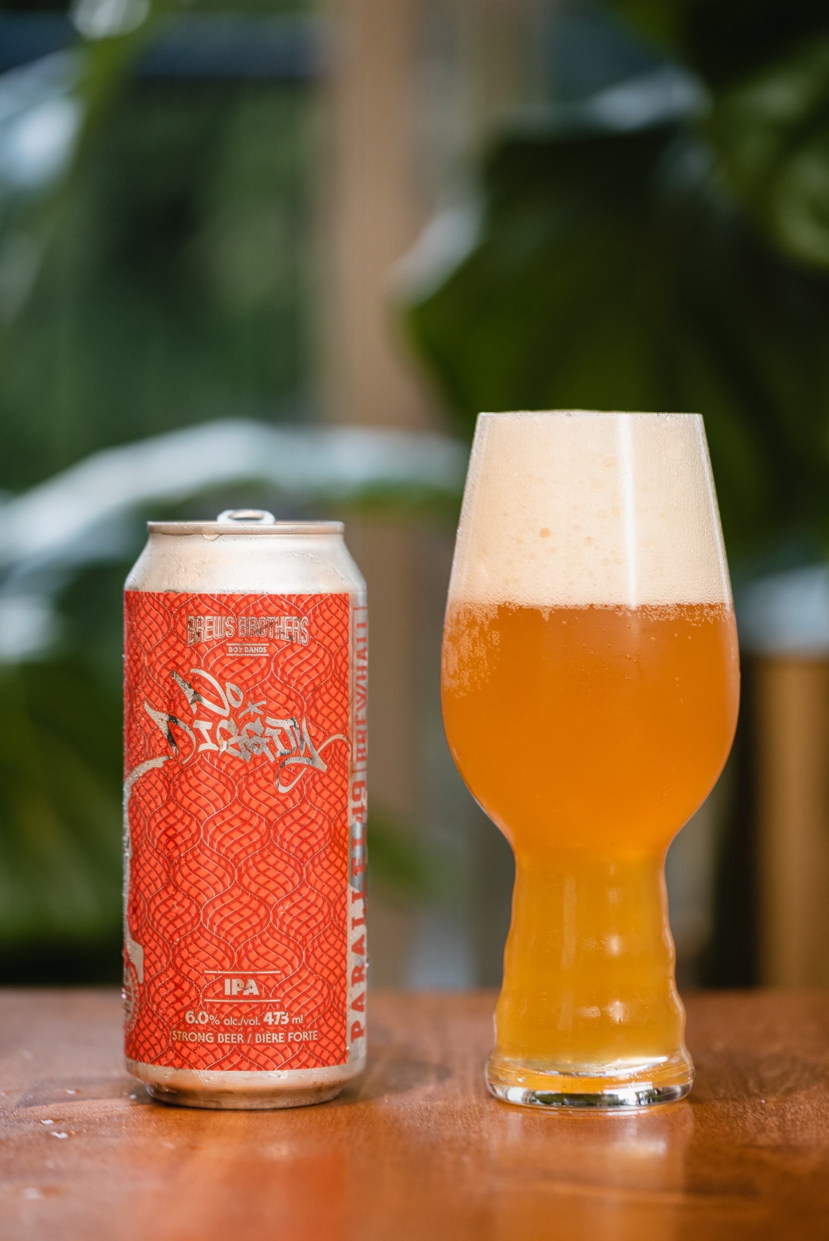 Parallel 49 Brewing No Diggity hazy IPA in glass