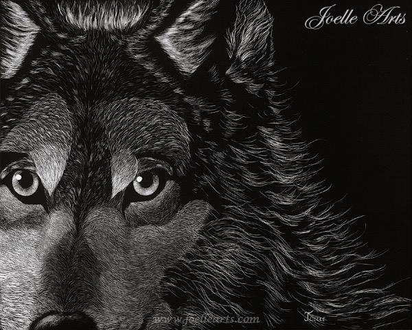 """""""Lorri's Wolf"""" - Year: 2006Size: 11"""