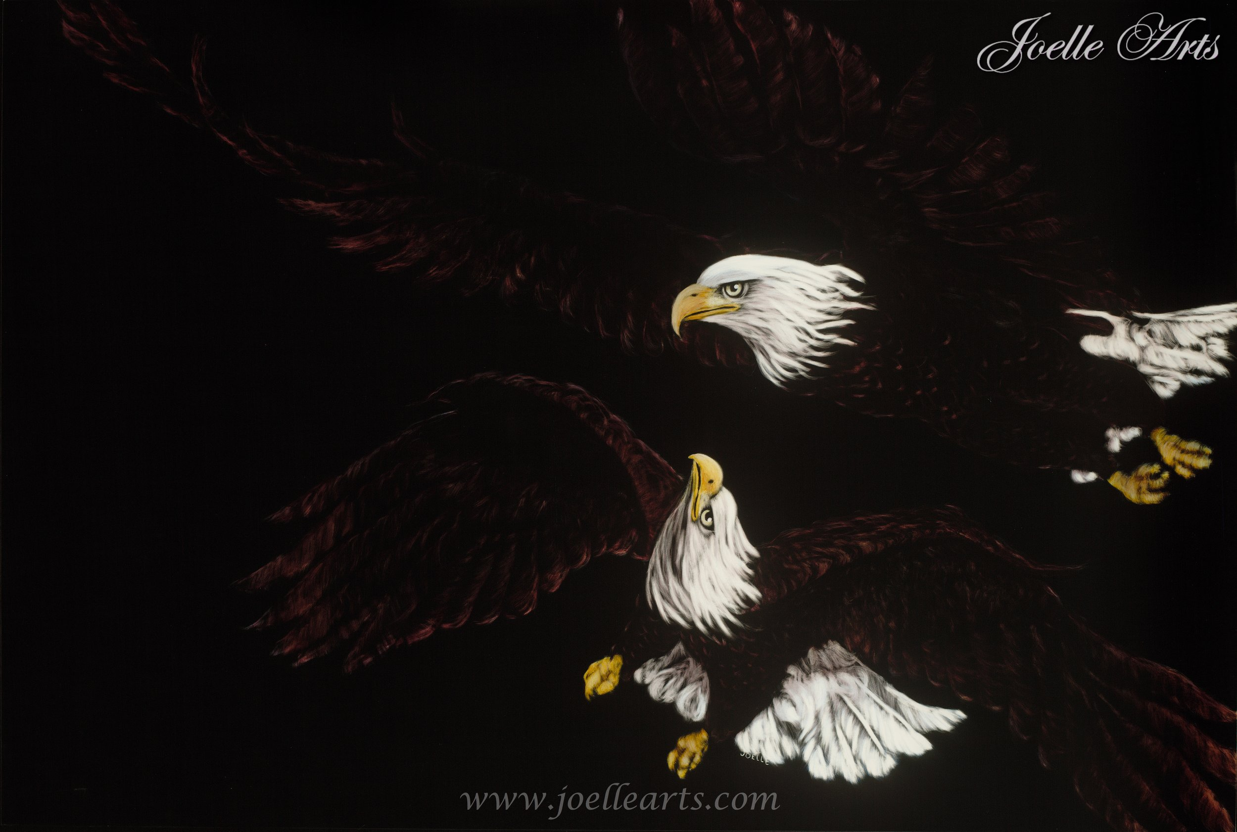"""""""Ed's Eagles"""" - Year: 2014Size: 24""""x 36"""""""