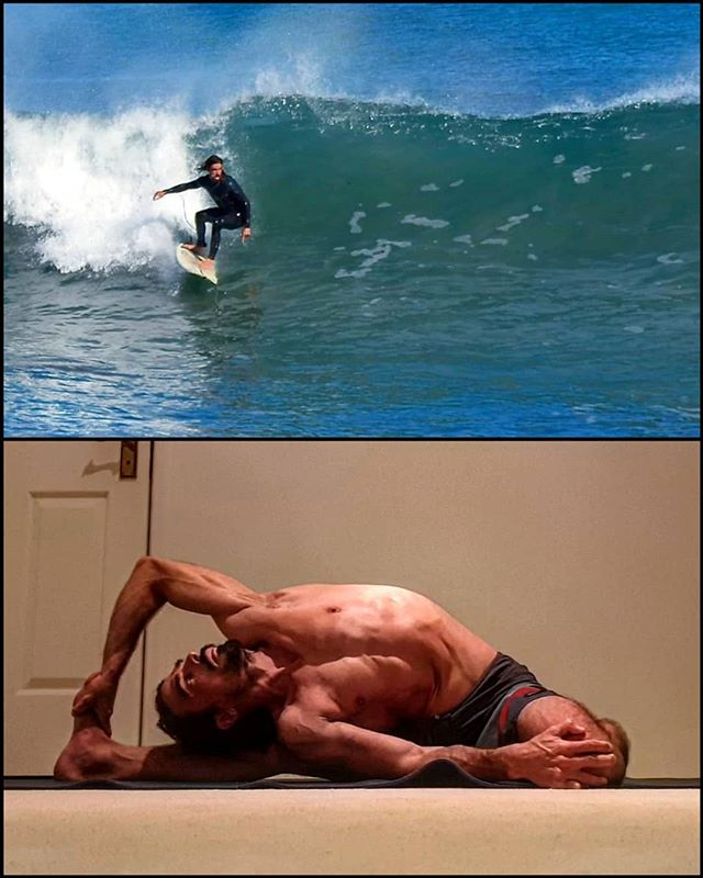 Mobility for surfing:  One of my favorite postures for maintaining mobility after surfing is Parighasana, or Gate pose.  A few little waves around today, and thanks to Photoscout for grabbing this shot.  I've attached the video, for anyone wondering how i got into the position.  #Parighasana #gatepose #surfingwa #yogasurf #surfyoga #innerfocusphysio #yogaperth #perthyoga #clinicalyoga #yogatherapy #perthphysio #perthmovement