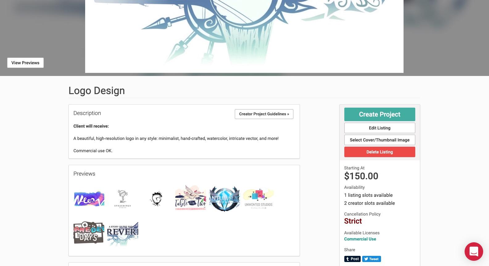 Commission slot page.