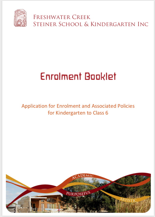 Enrolment Booklet Kindergarten to Class 6 - PDF 670KB  (Opens in new window)