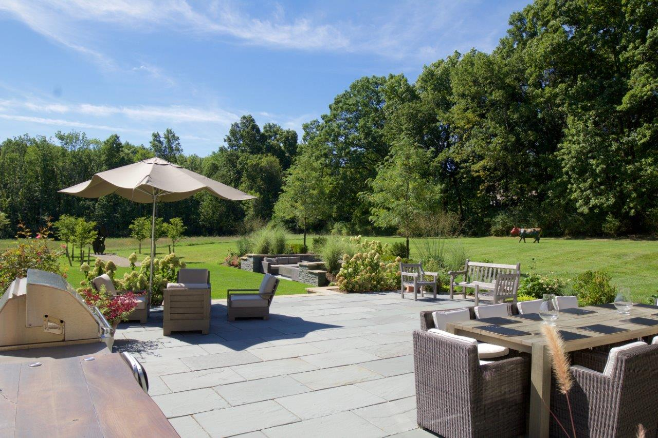 New patio with sitting area in Randolph, NJ