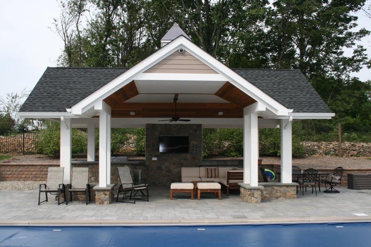 Landscape design with wooden structure in Randolph, NJ