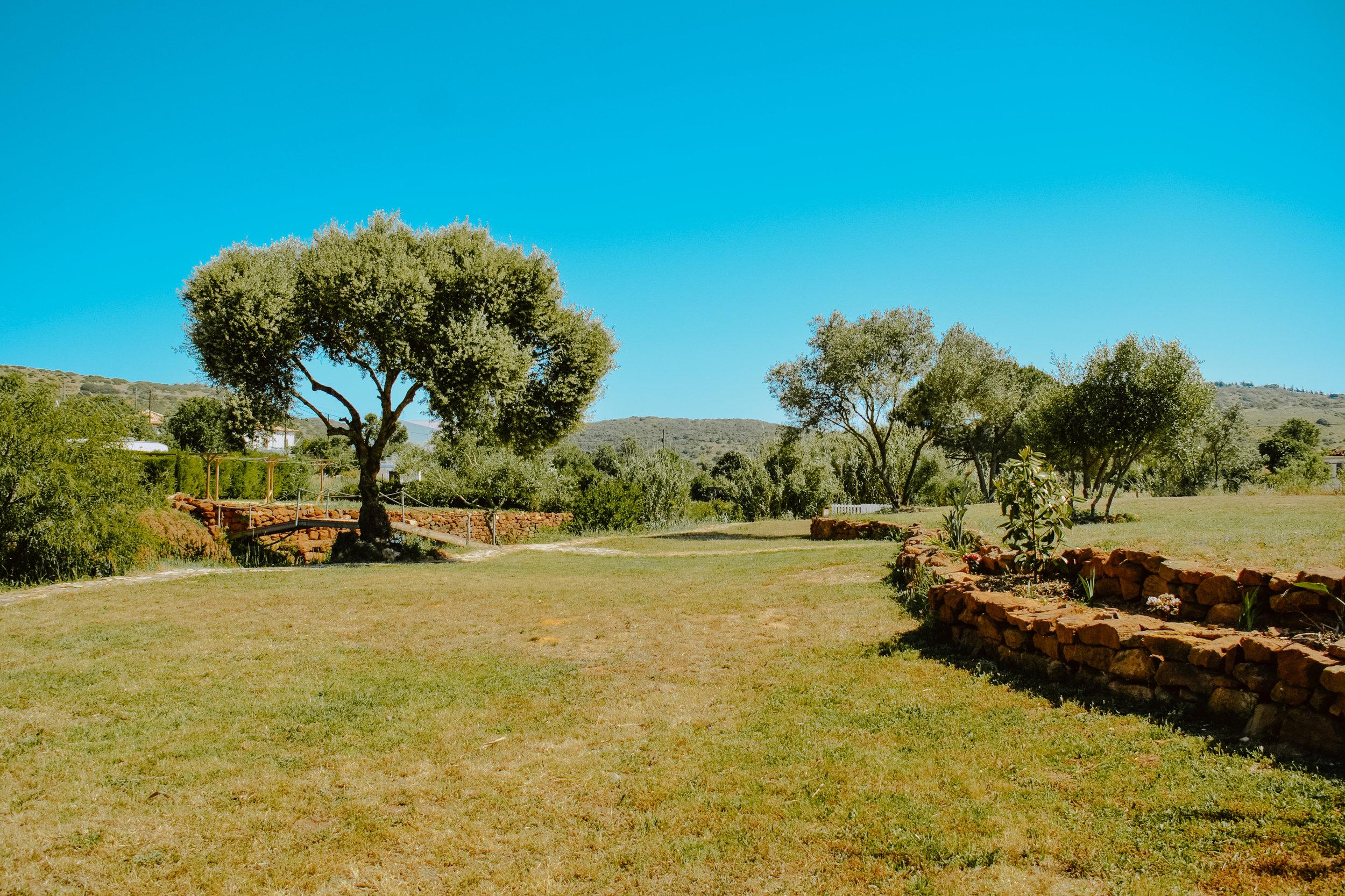 Campsite with garden