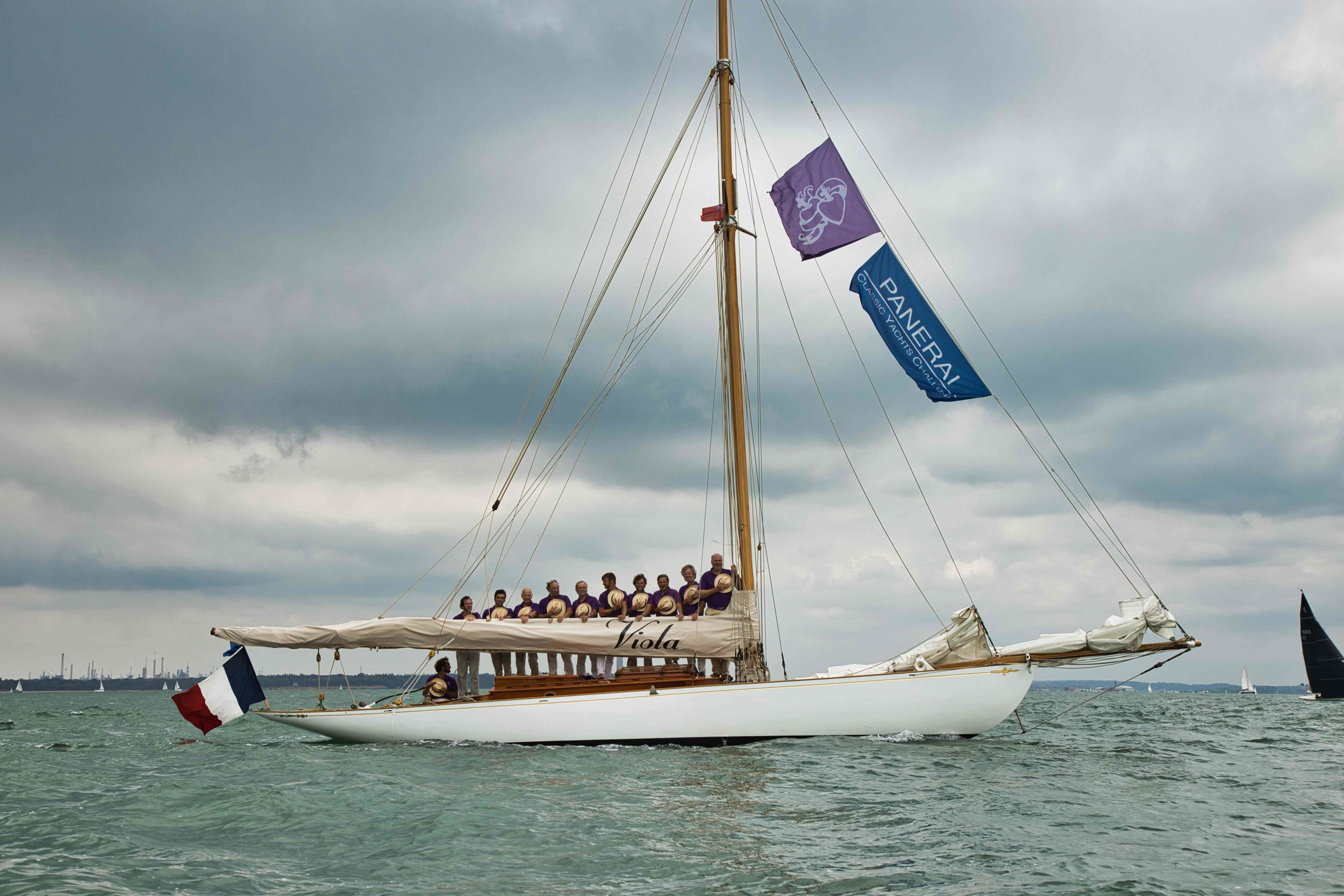 Fife Gaff Cutter Viola during the Concours d'Elegance parade