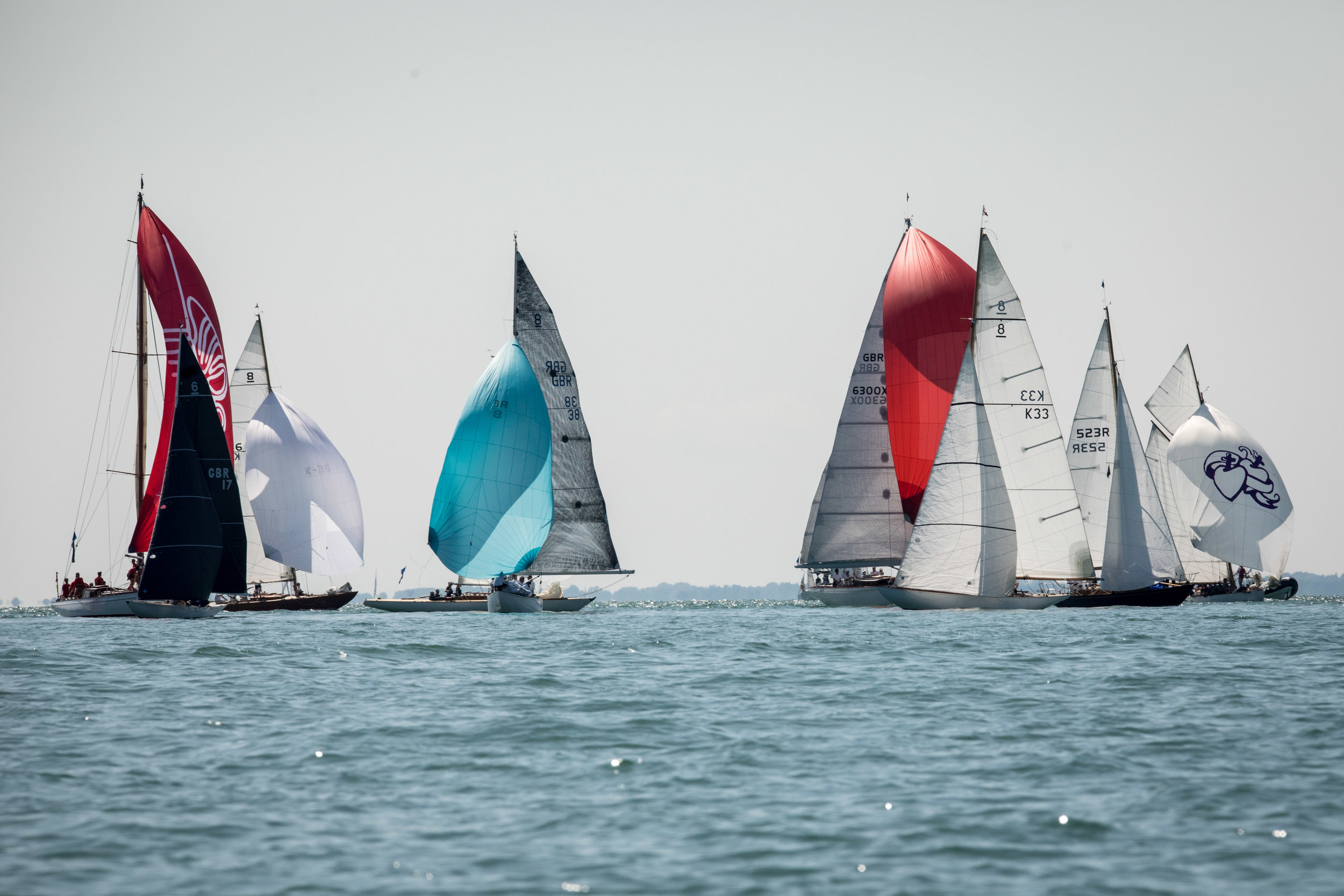 The fleet crept towards the finish line