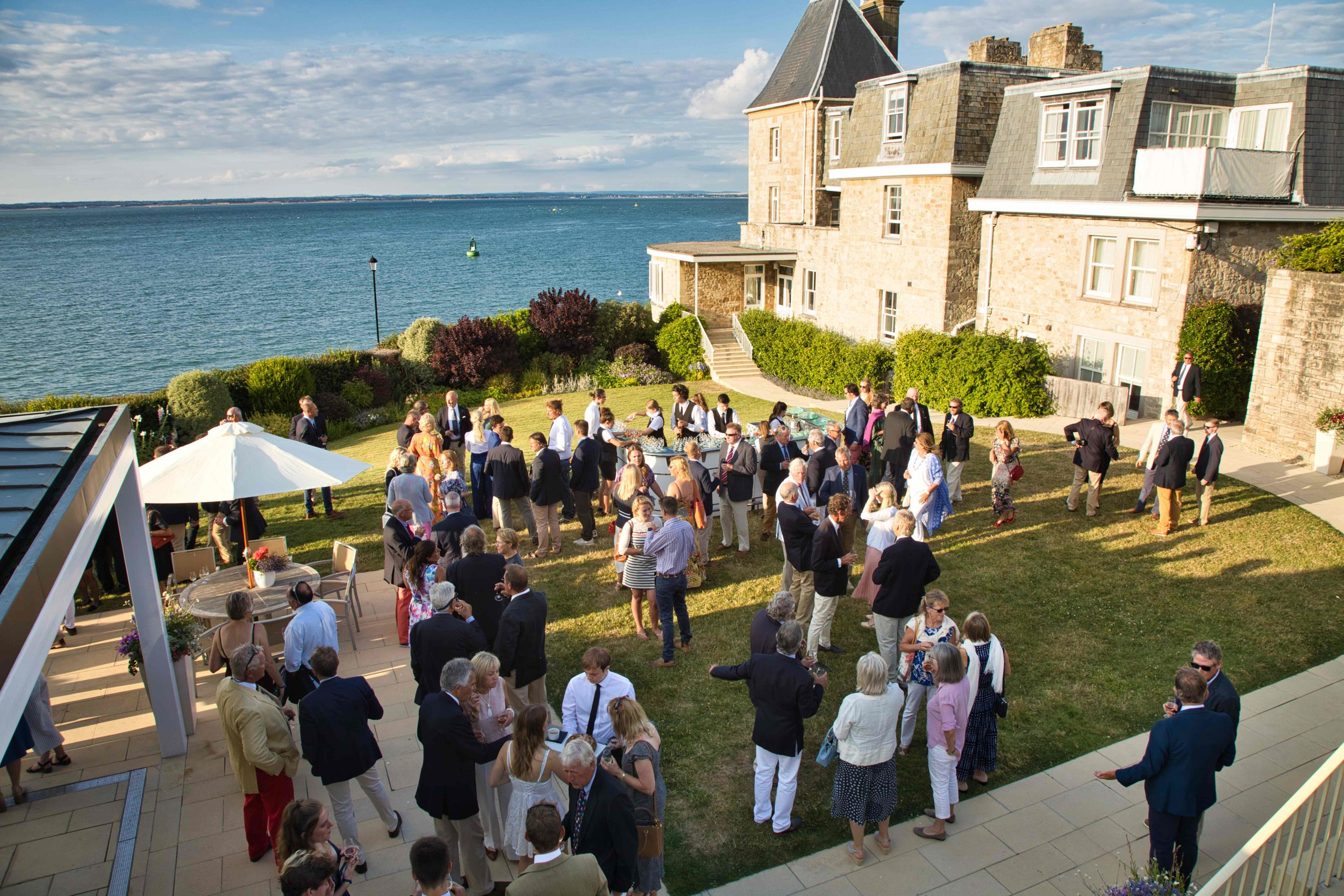 Drinks and canapés at the Royal Yacht Squadron