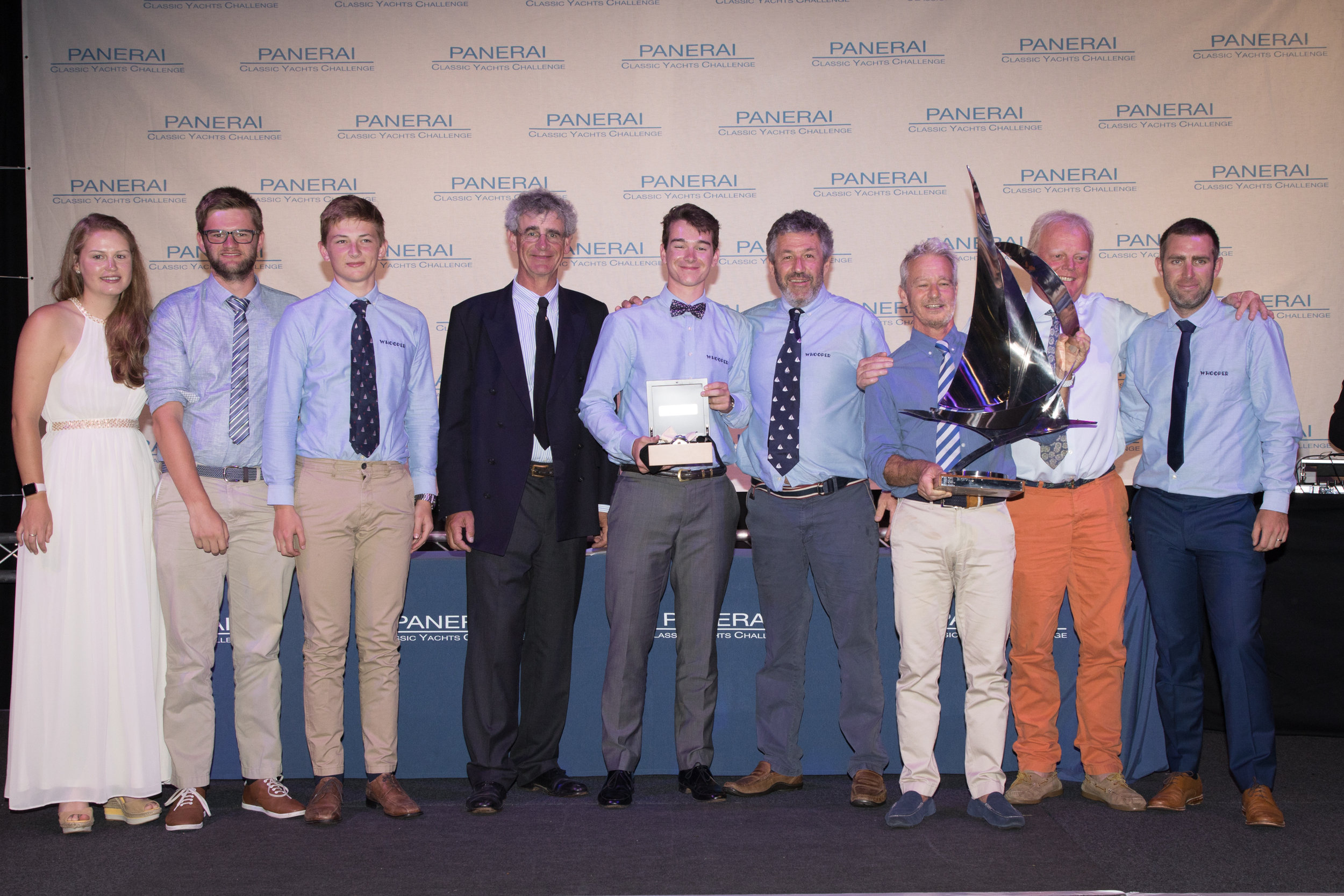 Overall regatta winners, Giovanni Belgrano and the crew of Whooper