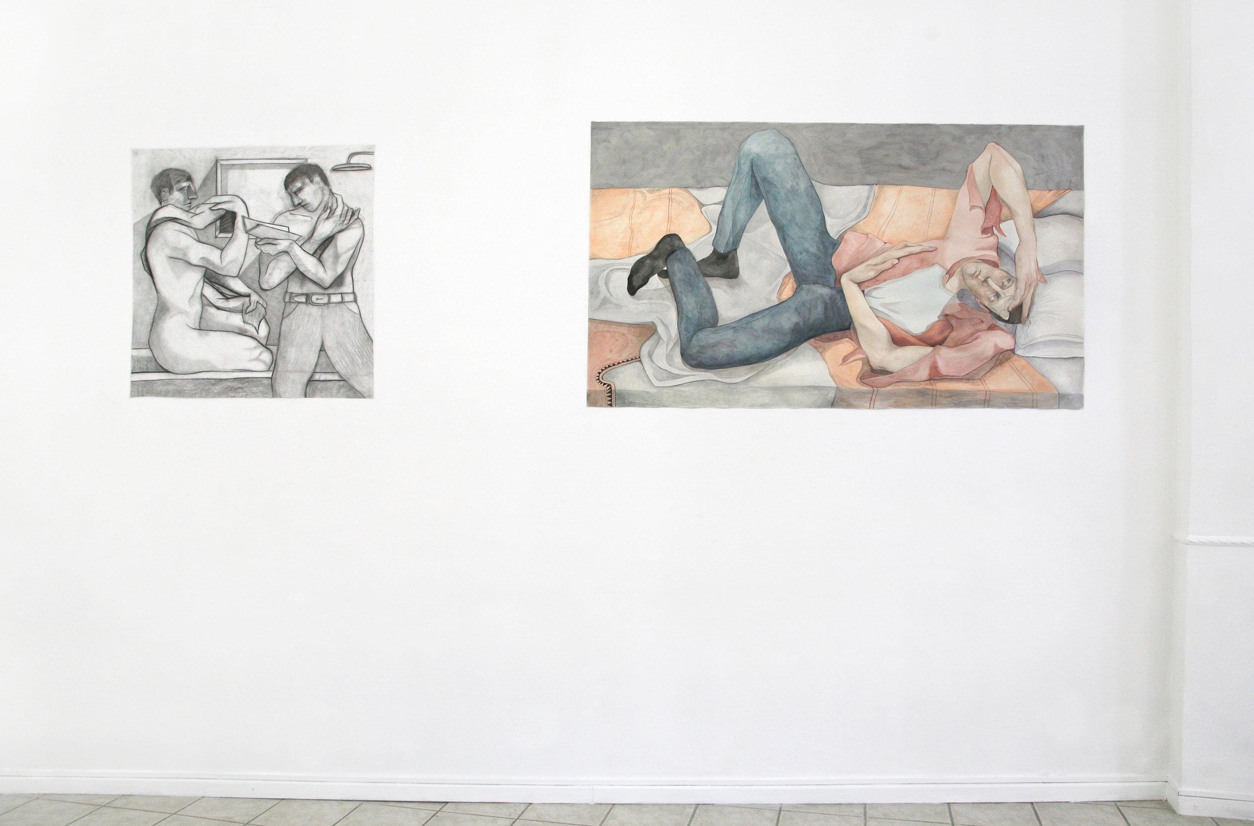 "Install shots of ""REPERTORIO LTD presents William Brickel (curated by Samuele Visentin)"""