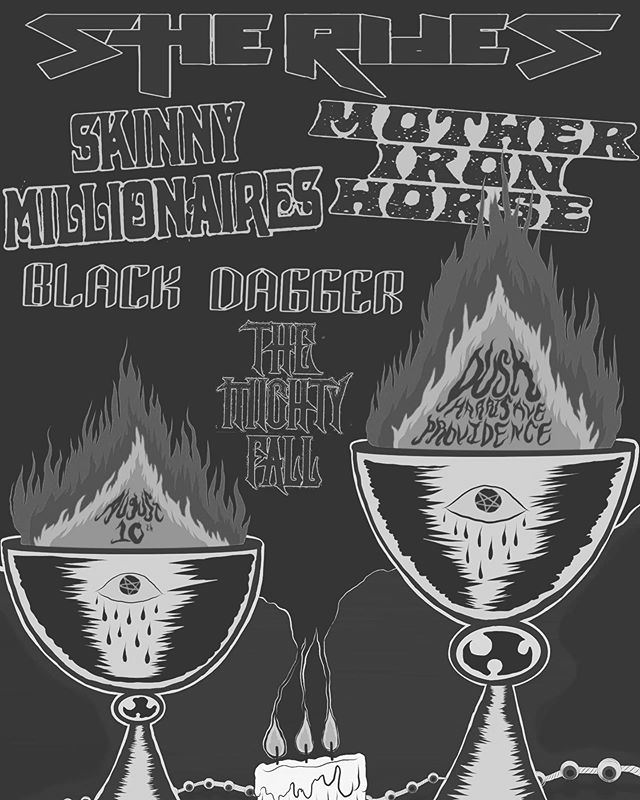 #hellyeah August 10th • @dusk_pvd • $5-$15 • 8:00 PM @blackdaggerband  @sheridespartymachine  @skinnymillionairesofficial  @themightyfallband @mother_iron_horse  @dusk_pvd