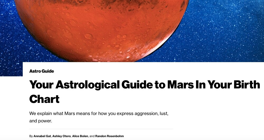 What does your Mars sign mean?