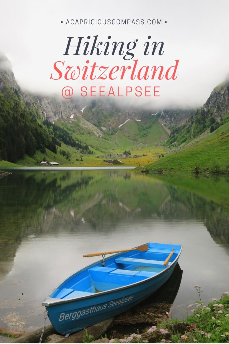 If you're looking for a relatively easy hike in Switzerland, take the route from Wasserauen to Seealpsee, full of postcard-perfect scenery. You can also head to Aescher lodge if you proceed further to Ebenalp | Hiking in Switzerland | Easy hike in Switzerland | Hike to Aescher lodge | Wildkirchli | #Aescher #seealpsee #ebenalp #wasserauen