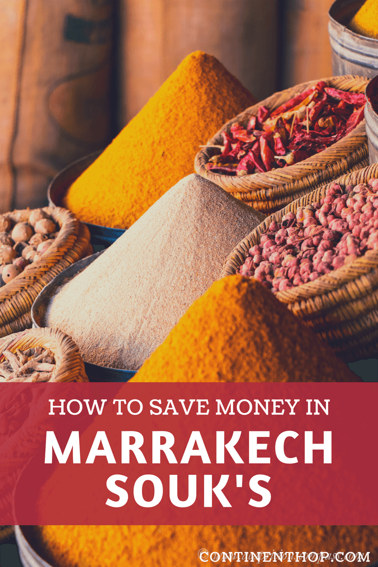 mounds of spices in a marrakech souk guide, prices included, how to save money at marrakech souk's in morocco travel, budget travel in morocco