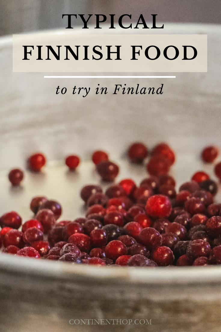 typical finnish food, berries, red berries