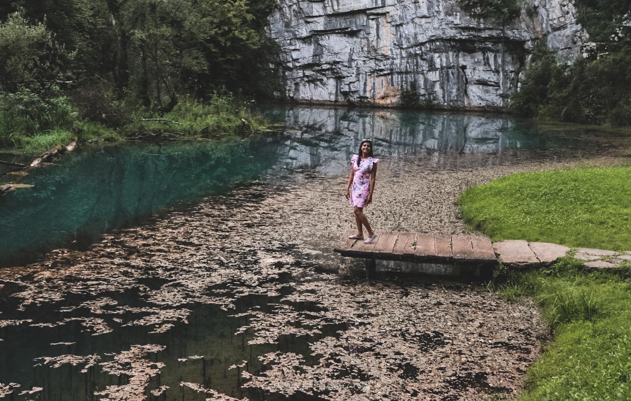 caves and river near big berry luxury glamping resort in bela krajina slovenia