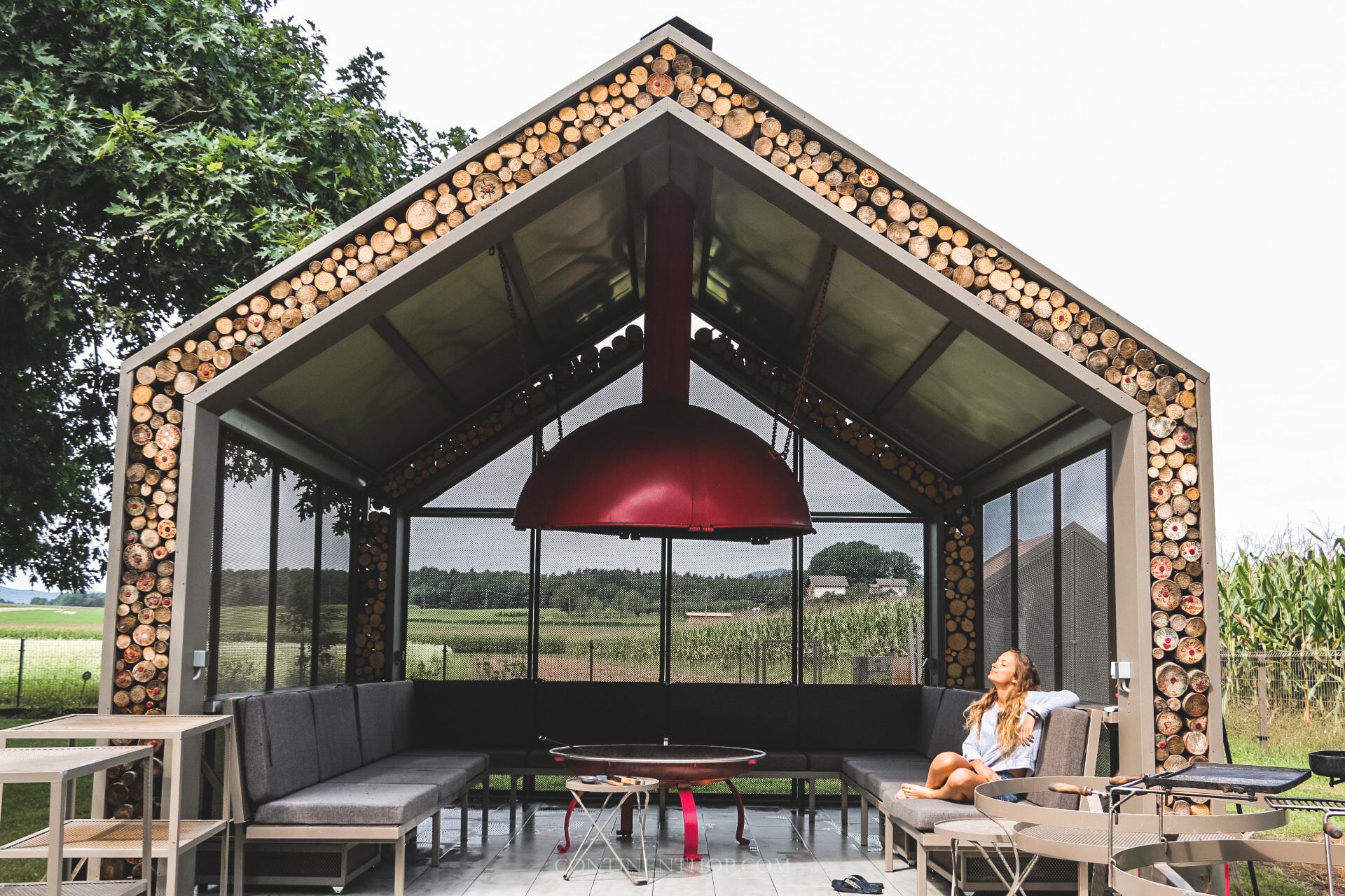 barbeque area at big berry luxury glamping resort in bela krajina slovenia