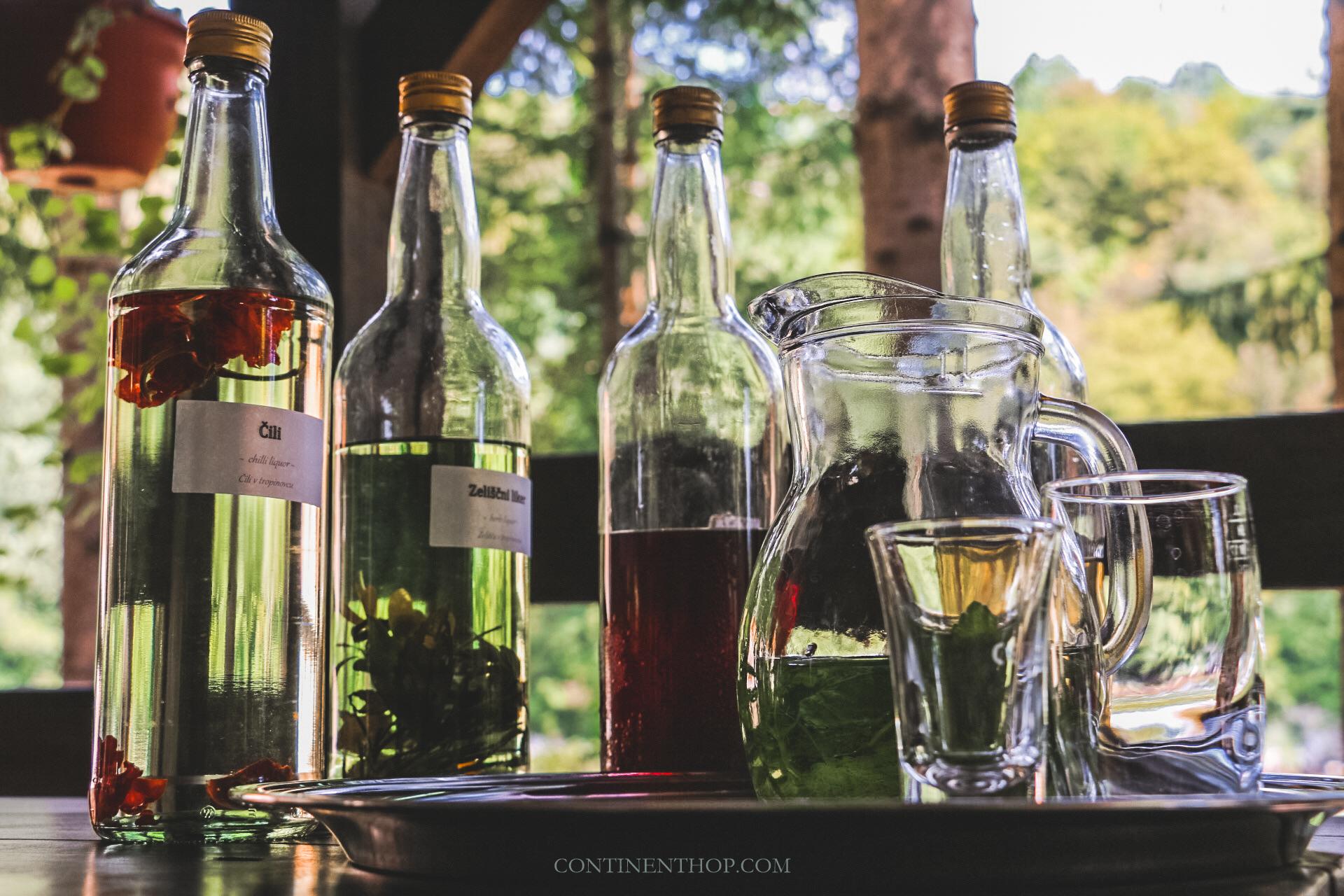 rajkija alcohol at domacija kuzma mill excursion from big berry luxury glamping resort in bela krajina slovenia