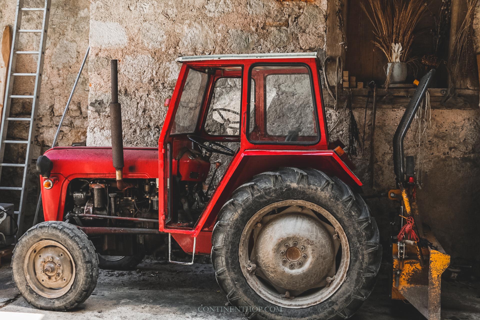 tractor at domacija kuzma excursion from big berry luxury glamping resort in bela krajina slovenia