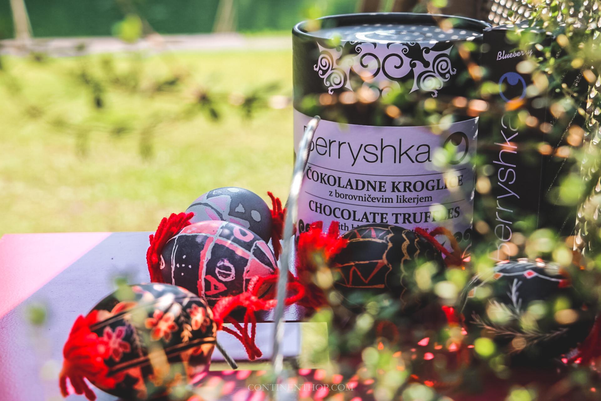 chocolates at big berry luxury glamping resort in bela krajina slovenia