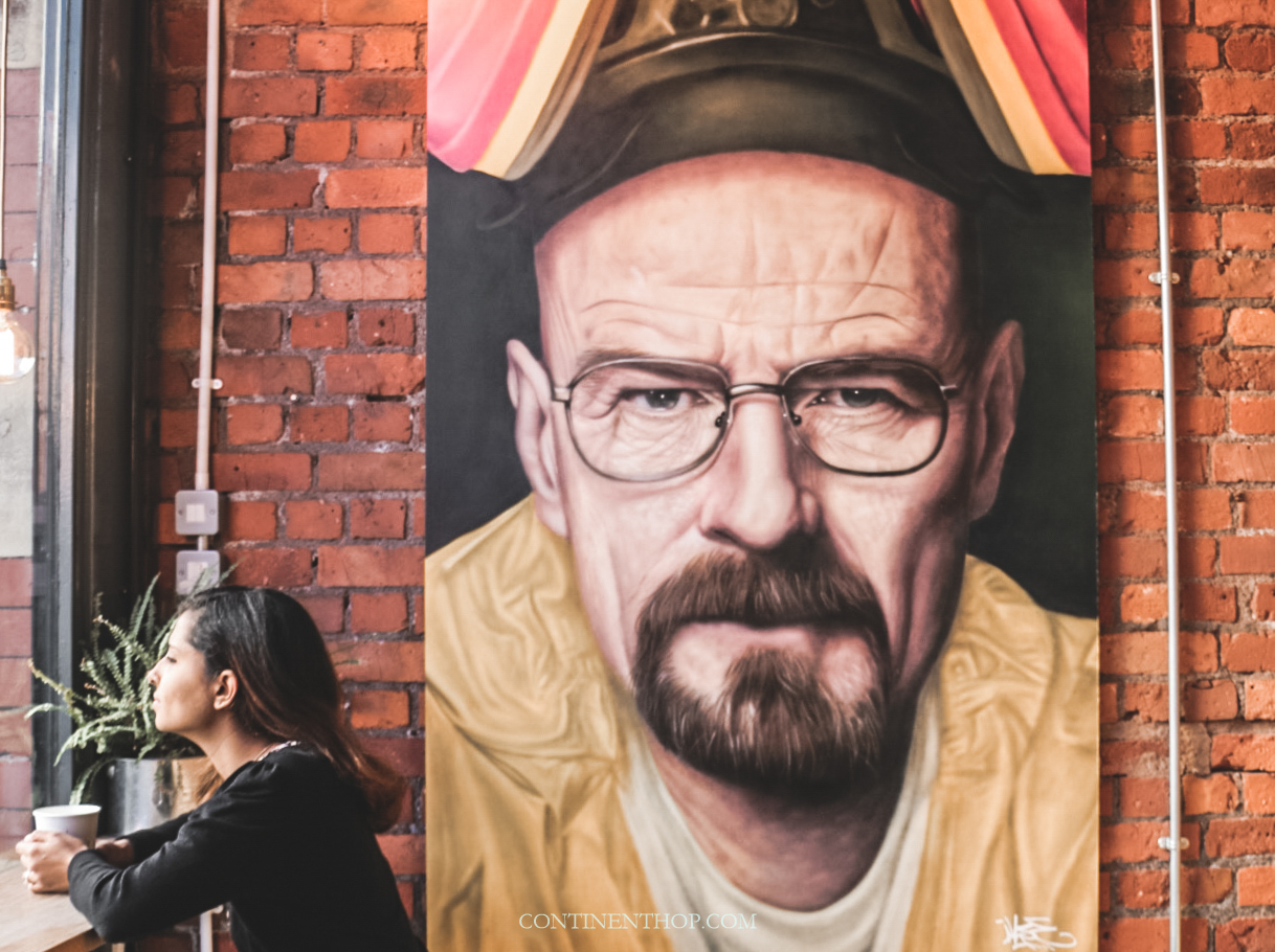 manchester attractions and travel guide Grindsmiths coffee house with bryan cranston pic