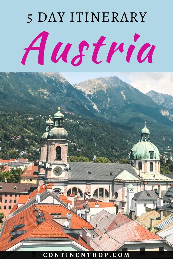 This Austria Itinerary for 5 days contains all the top places to see in #Austria, place sto visit in #Graz, a 2 day itinerary for Graz, a 2 day itinerary for #Innsbruck, 1 day in #Vienna. The best things to do in graz, Things to do in Innsbruck, things to do in Vienna. Vienna attractions, Graz attractions and Innsbruck attractions are included. | Austria travel | Europe travel | City break | Beautiful places | Austria travel guide | Austria travel tips | Innsbruck guide |#food #Europe #travel