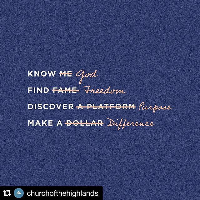 #Repost @churchofthehighlands ・・・ When we give our *whole* life to Jesus, everything changes. Maybe it's time to go all in. Why not now? #VisionSunday #godislove #purposeful #faith
