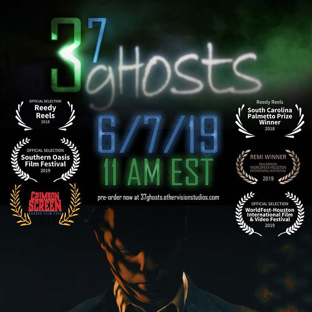 Huge News! Our film #37Ghosts will be released worldwide on 6/7/19 at 11AM Est. You can #preorder now at 37ghosts.othervisionstudios.com  #shortfilm #indiefilm #independentfilm #comingsoon #movies #horror #thriller #psychologicalthriller