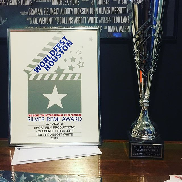 The #trophycabinet grows! Super homered to receive a #silverremi from @worldfesthou for #37Ghosts now its time to take the film down to Charleston for the @crimsonscreen film fest! See you all there!  #filmfestival #indiefilm #director #filmmaker #independentfilm #independentfilmmaker #shortfilm #awardwinner
