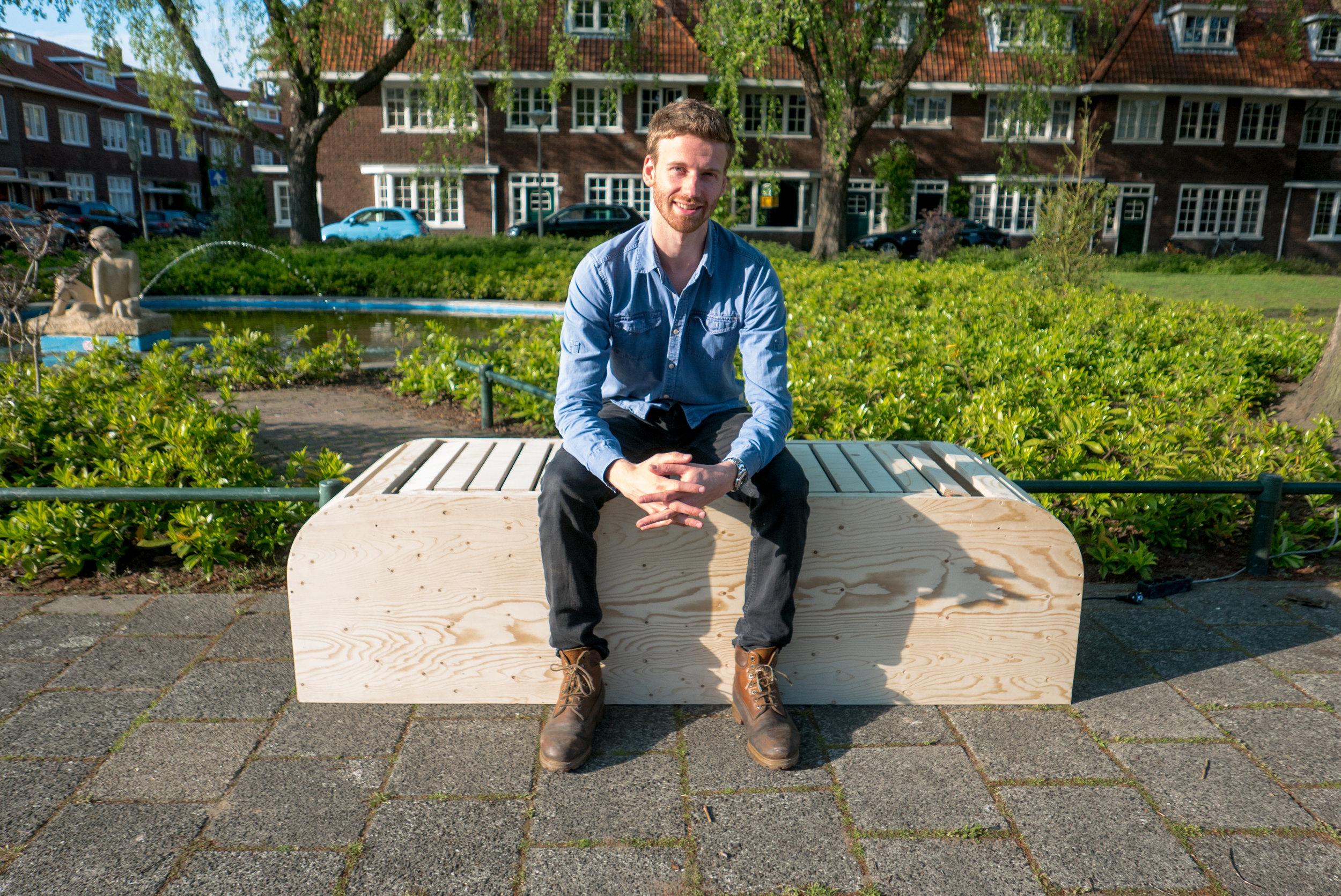 Keep Moving Bench by George Barratt-Jones