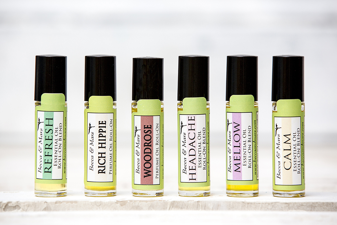Essential Oil Rollers, Natural Perfumes or Scents for Your Home