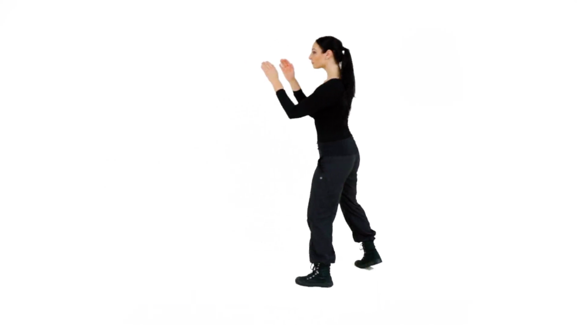 Step 3 (Right) - To break your angle to your Right from the Right Survival Stance, pivot on the ball of your front foot and rotate your body X number of degrees (whatever is needed in a real scenario) to the Right, and complete the movement by landing your Rear foot back into your Survival Stance.