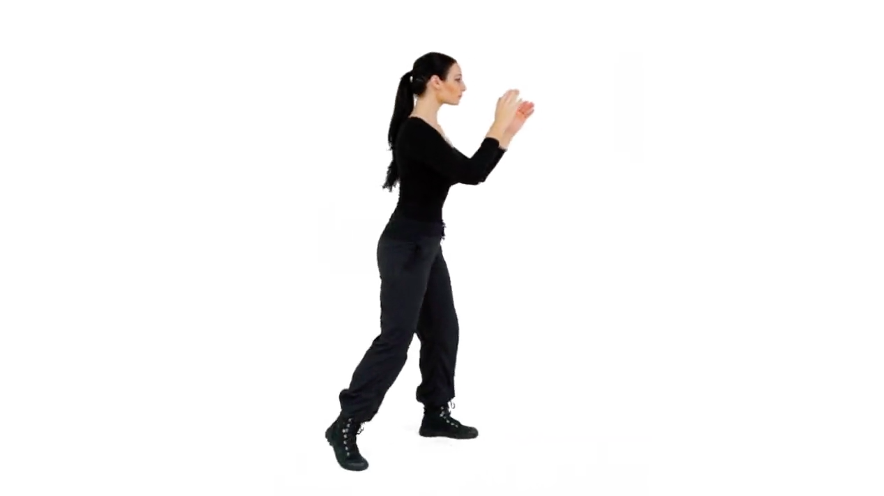 Step 6 - To break your angle to your Left from the Right Survival Stance, pivot on the ball of your front foot and rotate your body X number of degrees (whatever is needed in a real scenario) to the Left, and complete the movement by landing your Rear foot back into your Survival Stance.