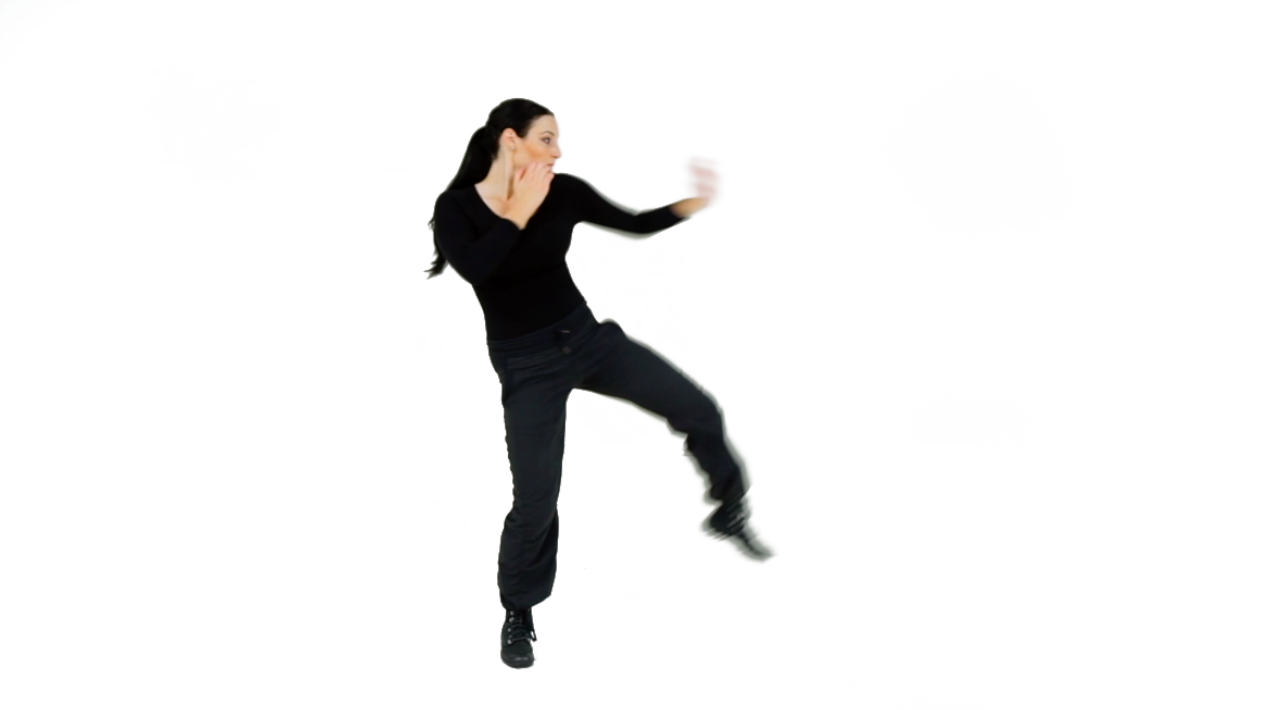 TRANsition - As you return your Near side leg from your defensive Push Kick, begin sending out a Near Palm Strike.