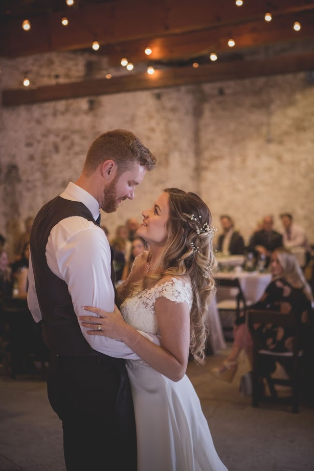 Slit barn wedding