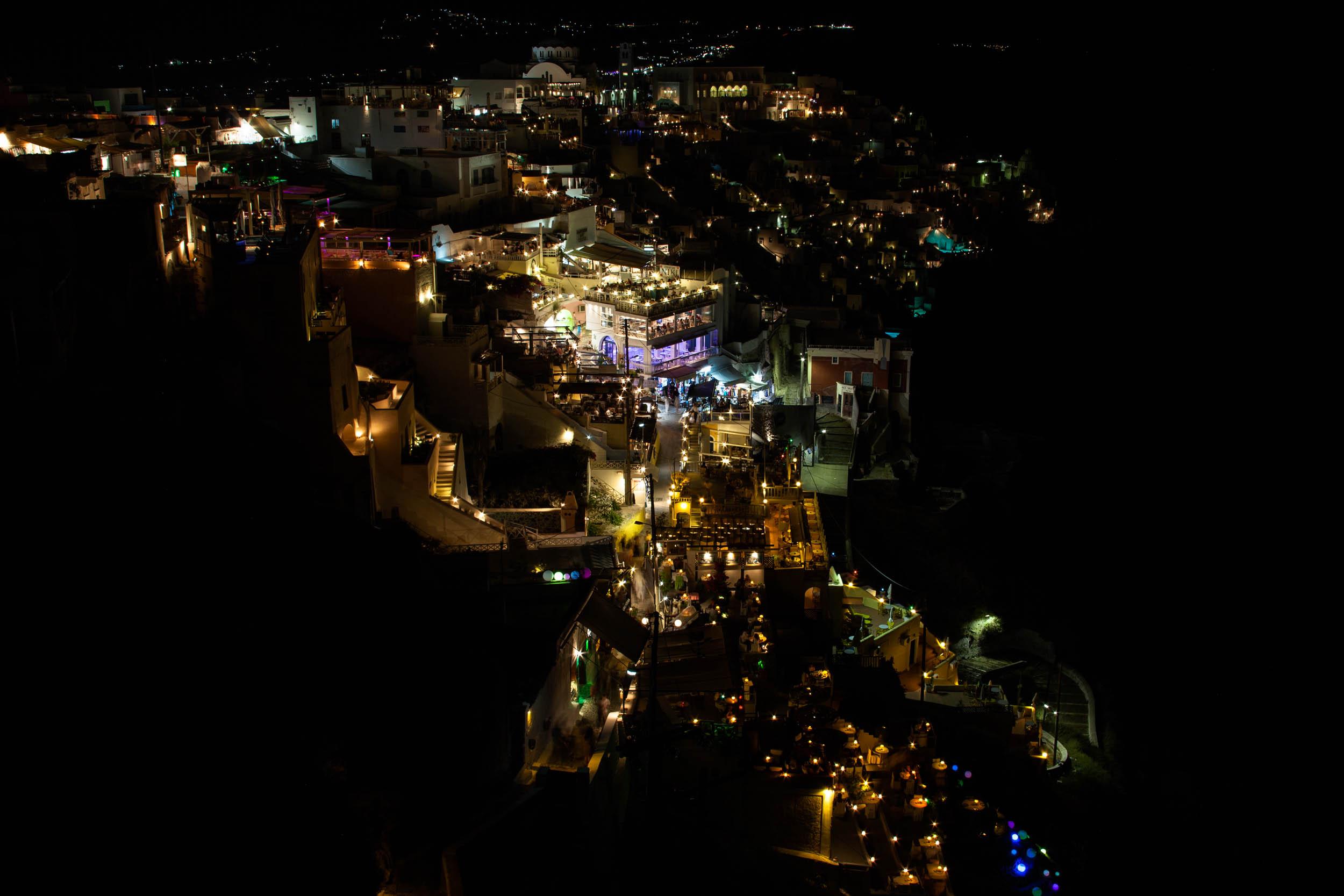 Fira at Night Santorini, Greece 2009