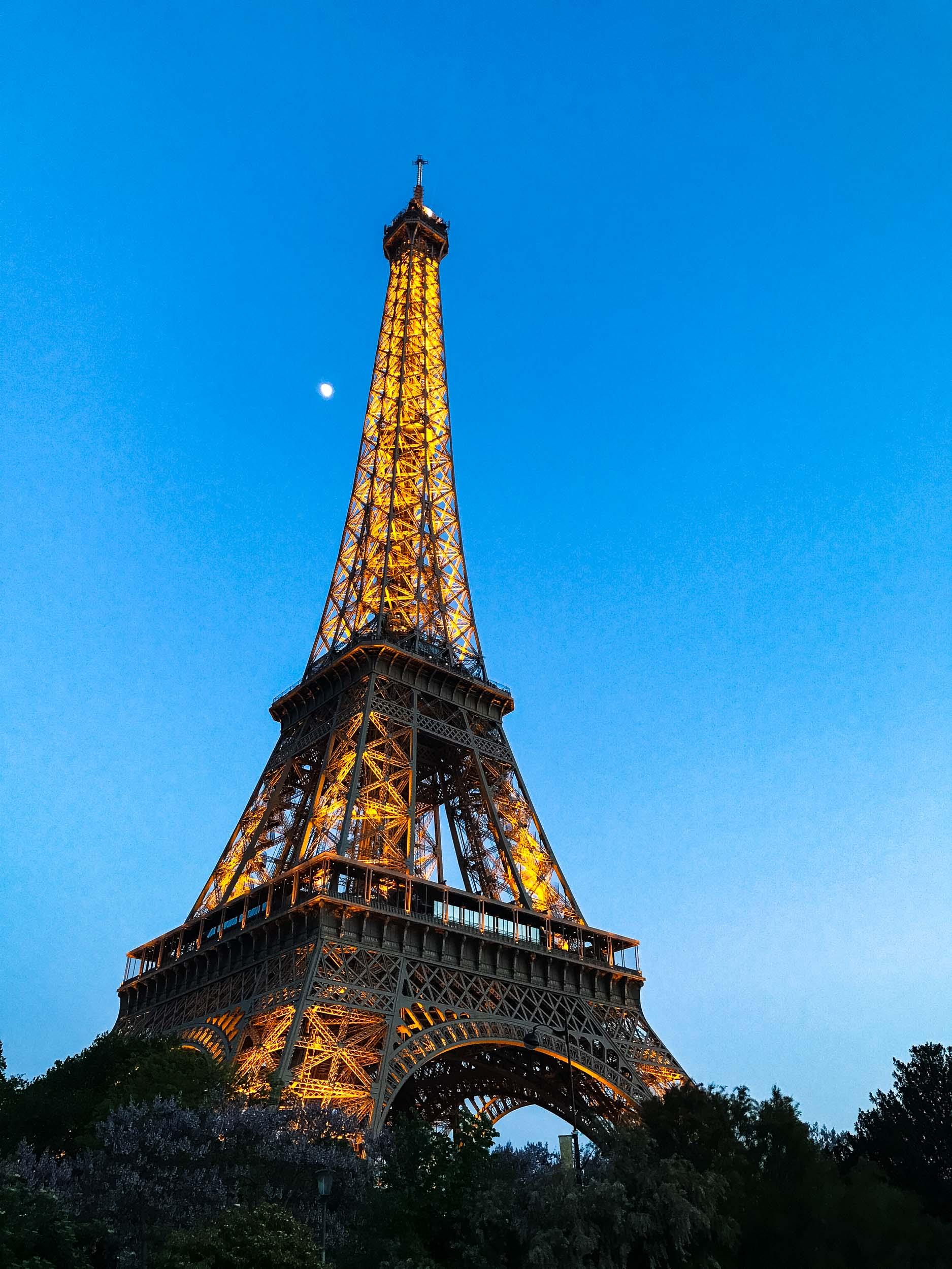 Tour Eiffel at Night Paris, France 2017
