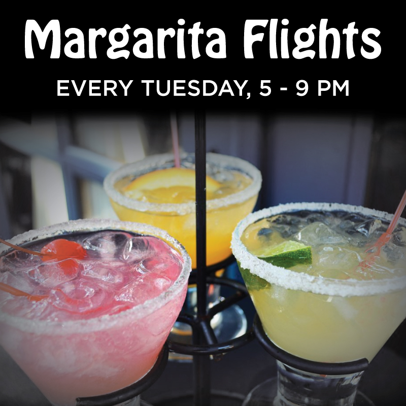 Margarita Flights / Every Tuesday / 5-9 pm