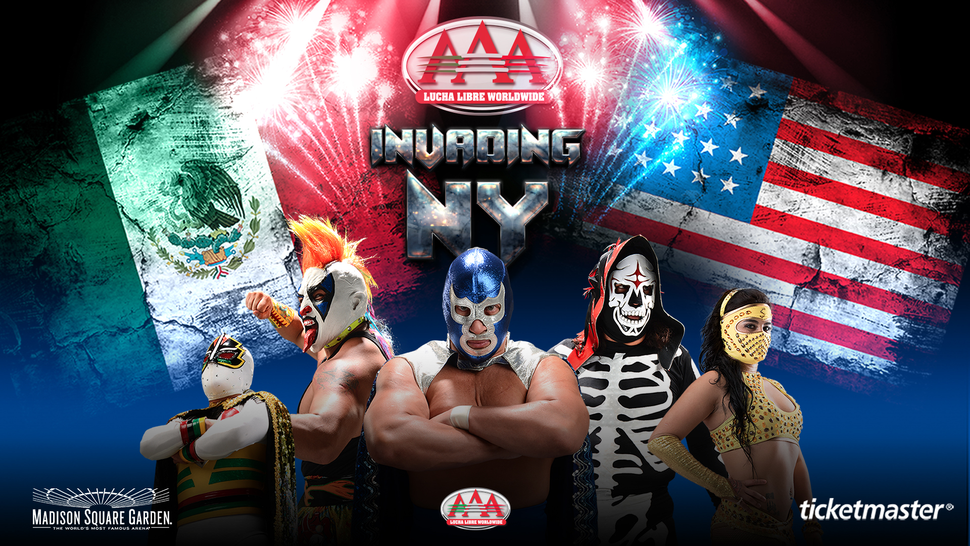 SUNDAY, SEPTEMBER 15, 2019 MADISON SQUARE GARDEN - MEXICO'S PREMIER LUCHA LIBRE WRESTLERS ARE COMING TO NEW YORK